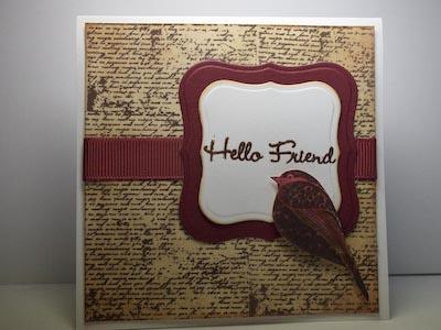 Modelo de Cartão com tema pássaro