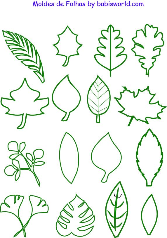moldes de folhas em formato pdf Moldes de Folhas