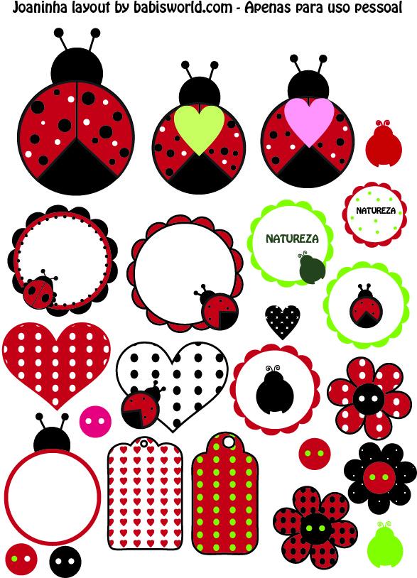 joaninhas para layout Joaninha: para imprimir